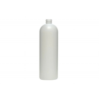 China 16OZ White HDPE Cosmetic Packaging Bullet Bottle WIth Flip Top Cap wholesale