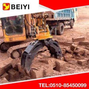 China Excavator Hydraulic Rotating Grapple Wooden Grapple Log Grapple Stone Grapple for excavator wholesale