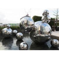 China Custom Made Mirror Polished Modern Stainless Steel Sculpture 316 Hollow Ball wholesale