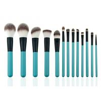 Quality Eye Shadow Eyeliner Professional Makeup Brush Set With Leather Cosmetic Bag for sale