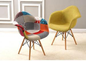 China Wear Resistant Patchwork Dining Chair , Upholstered Dining Room Chairs With Arms wholesale