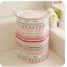 China foldable laundry hamper basket with mesh lid wholesale