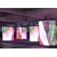 Buy cheap Indoor High Definition P4mm Soft LED Screen Video Cylinder Display from wholesalers