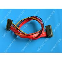 China Red SATA Data Cable Slimline SATA To SATA Female / Male Adapter With Power wholesale