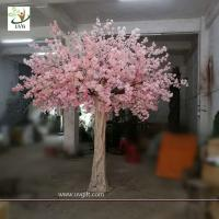 China UVG 10 foot pink cherry blossom decorative artificial trees for church wedding decorations CHR170 wholesale