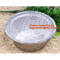 China disposable food packaging aluminum foil container, tray, box Customised food Aluminum Foil, bakery box, bakery container wholesale