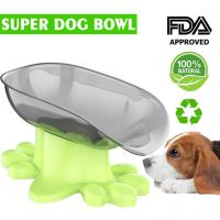 China Super Design Mess Free 15° Slanted Bowl for Dogs and Cats, Tilted Angle Bulldog Bowl Pet Feeder, Non-Skid & Non-Spill wholesale