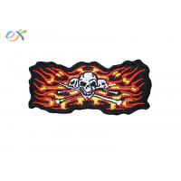 China Punisher Skull Irregular Custom Motorcycle Patches With Merrow Edge wholesale