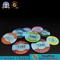China Crown Pattern Bronzing Casino Style Poker Chips Super - Touch Texture Wear Resistance wholesale