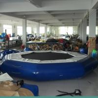 Quality Blue Inflatable Water Trampoline , Inflatable Water Park Games For Adults for sale