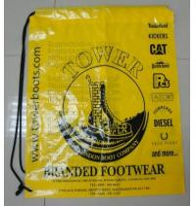 China Drawstring Shopping bags, Soft loop, Die cut handle, Flexi loop handle, Thermal bags wholesale
