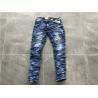 China Men'S Medium Wash Denim Jeans , 5 Pockets Stretch Denim Skinny Jeans TW78814 wholesale