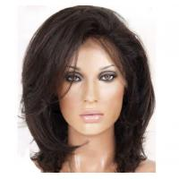 China Fashion Blonde Wigs Human Hair , OEM / ODM Short Front Lace Wigs With Thick Bottom wholesale