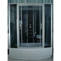 China 85 X 170 X 220 / cm Complete Shower Enclosures with tray fiberglass reinforced Matt chrome Color wholesale