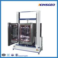 China 1000KN Tensile Testing Tester , Double Pole PVC Testing Equipment with Speed 0.1-500mm/min wholesale