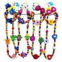 China Childrens' Jewelry Set with Earrings, Necklace and Bracelet, Made of Plastic Material on sale
