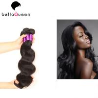 Quality Natural Color Pure Peruvian Body Wave Hair Bundles For Beauty Works for sale