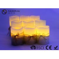 China 3pk LED candle Flameless Candle Christmas candle painting with silkribbon wholesale