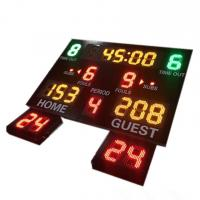 China Indoor Use Gym Digital Basketball Scoreboard With 24 Seconds Shot Clock wholesale