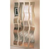 China Long Wave / S - Shaped Processed Mirror Glass 3mm For Vestibule , Art Deco Mirror on sale