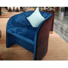China Comfortable Luxury Furniture Modern Hotel Lobby Chair Velvet Fabric wholesale
