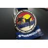 China Taekwondo Round Custom Race Medals Sandblast Effect With Gold Plating wholesale