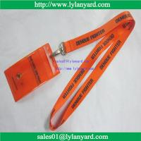 China Dengue Fighter Lanyard With Card Holder, Orange and Black Print, 20-inch wholesale