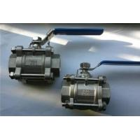 China 3-pc stainless steel ball valves full port 1000wog BSPP NPT ISO-5211 DIRECT MOUNTING PAD wholesale