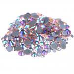 China Custom Size Stick On Rhinestones  , Round Shape Glass Crystal Rhinestones wholesale
