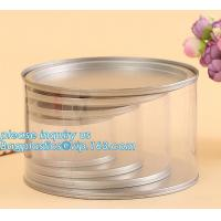 China PET Jar 85mm neck size food grade clear PET plastic Can screw type with aluminium easy open endsPackaging plastic can 25 wholesale