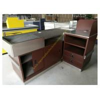 Buy cheap Stainless Steel Supermarket Checkout Counter / Store Non Electric Cashier Desk from wholesalers