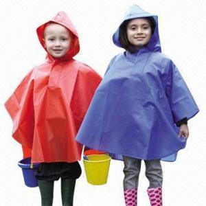 China Peva Kid's Rain Ponchos wholesale