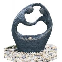 """Quality Happy Couple Small Garden Fountains , 26"""" Lighted Water Fountain wholesale"""
