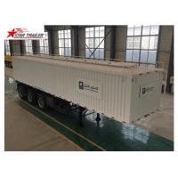 China 3 Axles Van Truck Flatbed Container Trailer With ABS Brake System wholesale