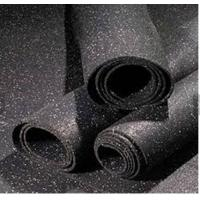China Recycled Rubber Granules Rubber Gym Flooring 1-1.2M Width Noise Reduction wholesale