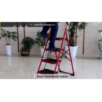 China Collapsible 0.89m 2 Step Double Sided A Frame Ladder wholesale