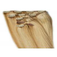 """China Professional 12"""" - 30"""" Clip In human Hair Extensions Malaysian Body Wave Remy Hair wholesale"""