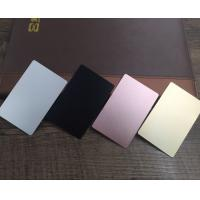 China Colored  Metal Business Cards Printing , Square Custom Aluminum Business Card wholesale
