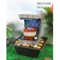 China Polyresin Water Fountain Hand Painting With Led Lights For Home Decoration wholesale