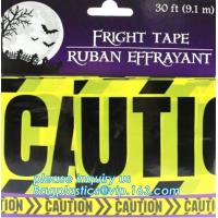 China Halloween Birthday Party theme warning caution PE tapes for event decoration,Halloween Caution Tapes,Halloween Warning T wholesale