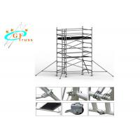 China Lightweight Aluminium Scaffold Tower 8m For House Building With Wheels wholesale