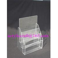 China Practical Multi-layered Custom Transparent Acrylic Paper / Poster Display Stand wholesale