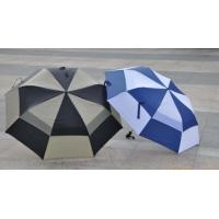 Buy cheap 2 Big Folding Automatic Golf Umbrella Double Layers Fiberglass Shaft / Ribs from wholesalers
