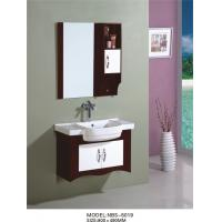 China 80 X49/cm PVC bathroom vanity / wall cabinet / hanging cabinet / walnut color for bathroom wholesale