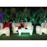 China Rechargeable Outdoor plastic Sofa Lounge led Illuminated Modern Design wholesale