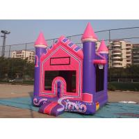 China 3In1 High Tear Strength Pink Inflatable Jump House with basket hoop for SchoolLobbies wholesale