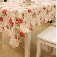 China Flower Printed PVC Table Cloths , Waterproof Table Cover OEM / ODM wholesale
