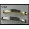 China Chrome 64mm Kitchen Cabinet Handles , Modern Bathroom Drawer Pulls Arched Golden wholesale