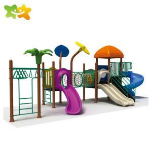 China Plastic Preschool Climbing Outdoor Bridge Playground Slide wholesale