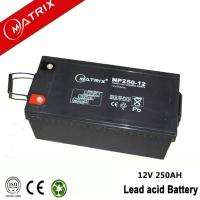 China Matrix 12v 250ah solar battery wholesale